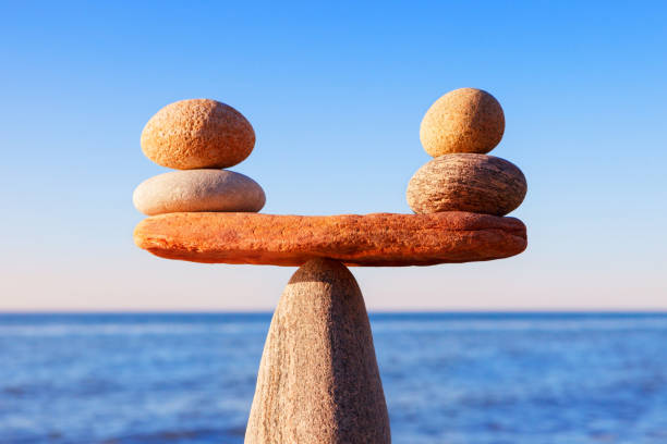 pebbles, perfectly balanced on top of each other